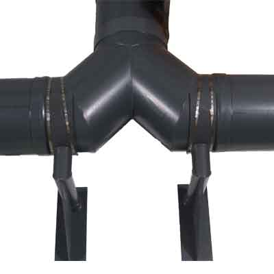 Pipe wall support hanger